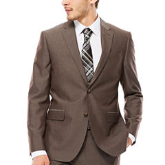 JF J. Ferrar® End on End Taupe Slim-Fit Jacket
