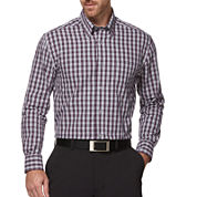 PGA TOUR® Long-Sleeve Performance Plaid Cotton Shirt