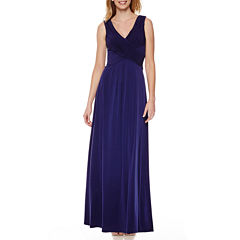 Melrose Sleeveless Ruched Formal Gown