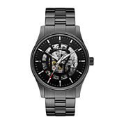 Caravelle New York® Mens Stainless Steel Skeleton Automatic Watch 45A121