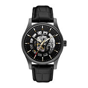 Caravelle New York® Mens Stainless Steel Skeleton Automatic Watch 45A120