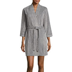 Jasmine Rose  3/4 Sleeve Burnout Kimono Robes