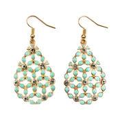 Decree White Drop Earrings