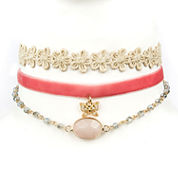 Decree Freeform Womens White Choker Necklace