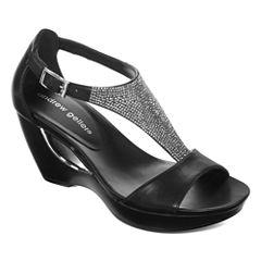 Andrew Geller Arana Womens Wedge Sandals