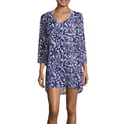 Liz Claiborne Mystique Cobalt Chiffon Dress