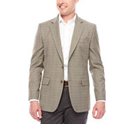 Stafford Yearround Stretch Brown Blue Check Sport Coat-Classic