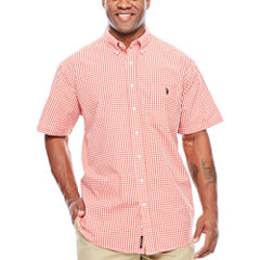 U.S. Polo Assn. Short Sleeve Button-Front Shirt-Big and Tall