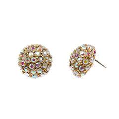 Decree Button Earrings