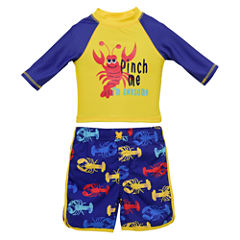 Candlesticks Lobster Rash Guard Set - Baby