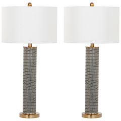 Safavieh Ollie Faux Alligator Table Lamp