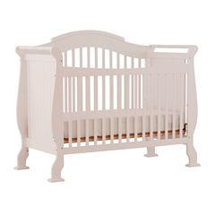 Storkcraft Valentia 4-in-1 Convertible Crib- White