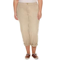 Liz Claiborne Cropped Pants-Plus