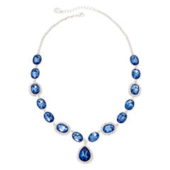 Monet® Blue and Silver-Tone Y Necklace