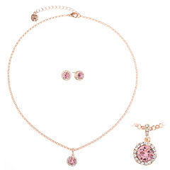 Monet Jewelry Womens 2-pc. Pink Jewelry Set