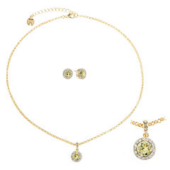 Monet Jewelry Womens 2-pc. Yellow Jewelry Set