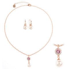 Monet Jewelry Womens 2-pc. Pink Jewelry Set