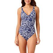 Liz Claiborne Mystique Cobalt One Piece Swimsuit or Coverup