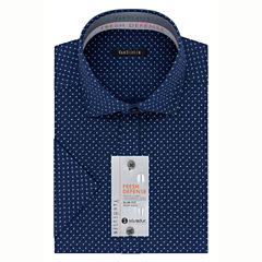 Van Heusen Slim Fit Short Sleeve Dress Shirt