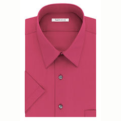 Van Heusen Easy-Care Poplin Big And Tall Short Sleeve Dress Shirt