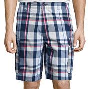 St. John's Bay® Madras Cargo Shorts