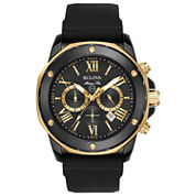 Bulova Mens Black Strap Watch-98b278