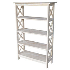 X-Sided 5-Shelf Bookshelf
