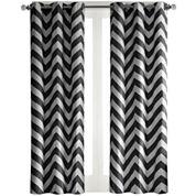 Pisces 2-Pack Chevron Grommet-Top Curtain Panels