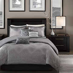 Madison Park Crawford 6-pc. Jacquard Duvet Set