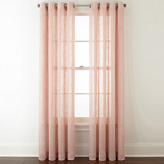 JCPenney Home™ Brady Grommet-Top Sheer Curtain Panel