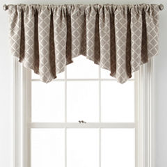 JCPenney Home™ Quinn Lattice Ascot Rod-Pocket Valance
