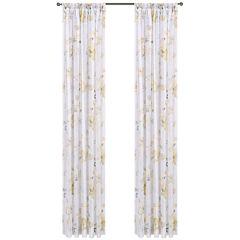 Imperial Garden Rod-Pocket Sheer Curtain Panel