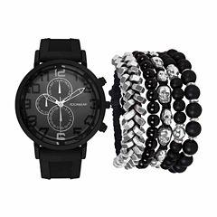 Rocawear Mens Black 7-pc. Watch Boxed Set-Rmst5354b328-362