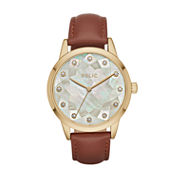 Relic Womens Brown Strap Watch-Zr12205