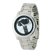 Mens Silver Tone Bracelet Watch-W001781