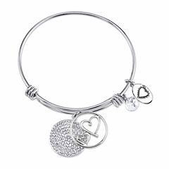 Footnotes Stainless Steel Bangle Bracelet