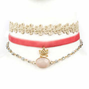 Decree Freeform Womens White Choker Necklace