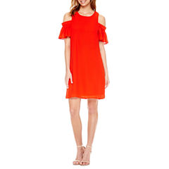 City Streets Short Sleeve Shift Dress