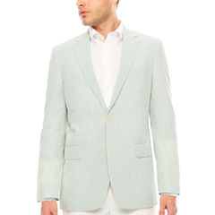 Stafford Classic Fit Seersucker Stripe Sport Coat