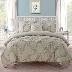 VCNY Monica Pintuck Comforter Set