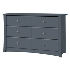 Storkcraft Crescent 6-Drawer Nursery Dresser - Gray