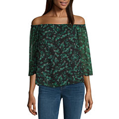 a.n.a 3/4 Sleeve Off The Shoulder Blouse