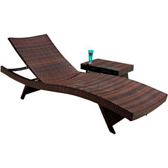 Outdoor Wicker Lounge and Table