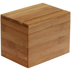 Oceanstar Bamboo Recipe Box