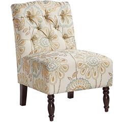 Madison Park Sylvia Tufted Armless Chair