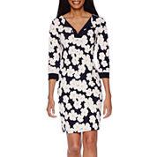 Tiana B. 3/4-Sleeve Floral-Print Dress - Tall