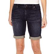 a.n.a® Cuffed Denim Bermuda Shorts - Tall