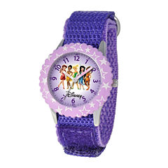 Disney Fairy Princesses Kids Time Teacher Purple Strap Watch