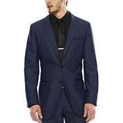 akademiks® Blue Birdseye Suit Jacket - Slim Fit