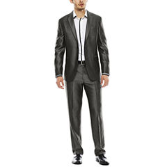 JF J. Ferrar® Diamond Charcoal Shimmer Suit Separates - Slim